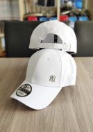 New Era 9FORTY Adjustable NY Yankee Mini metal- White