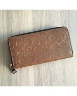 Coach F24667 Accordion Wallet In Signature Leather SADDLE