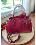 COACH F31485 MINI SAGE IN SIGNATURE LEATHER (Cherry)