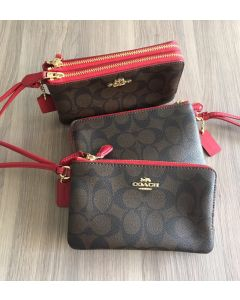 Coach F87591 Double Zip Wristlets