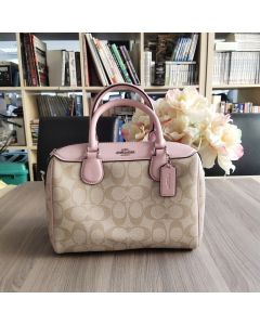 COACH MINI BENNETT SATCHEL IN SIGNATURE CANVAS (F32203)
