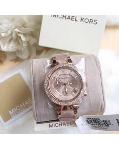 MK5896 Micheal Kors Parker Blush Dial Ladies Watch