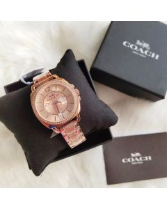 Coach Pink Gold Lady Watch 14503142