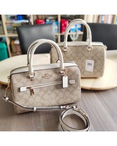 Coach F83607 Rowan Satchel Light Khaki/Chalk