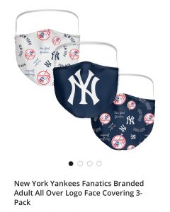 New York Yankees Fanatics Branded Face Covering mask 3 pcs
