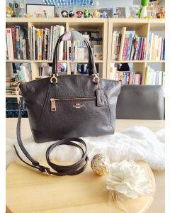 Coach F58874 Prairie Satchel Pebble Leather BLACK