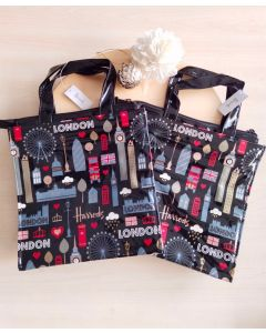 Harrods Small Glitter London Shopper Bag