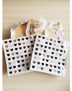 Harrods Small Glitter Hearts Shopper Bag