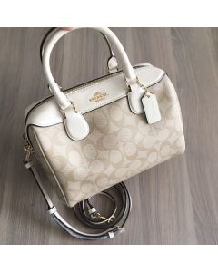 COACH F32203 MINI BENNETT SATCHEL WHITE