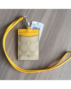 Coach F63274 LANYARD ID CASE (Yellow)
