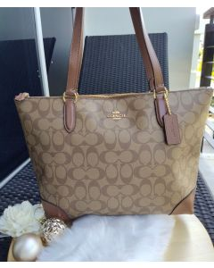 "Coach F29208 Top Zip Tote 14"" IMITATION GOLD"