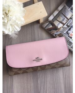 COACH F57319 CHECKBOOK WALLET (Blush)