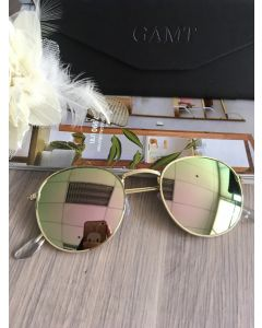GAMT Vintage Round Aviator Color Film Metal Frame (ฺฺฺGold)