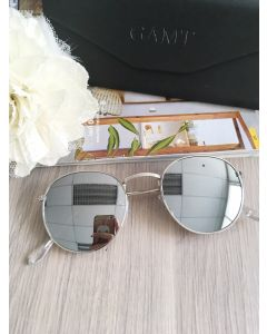 GAMT Vintage Round Aviator Color Film Metal Frame (ฺฺฺSilver)