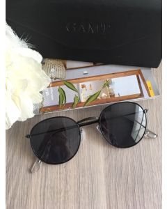 GAMT Vintage Round Aviator Color Film Metal Frame (ฺฺฺBlack)