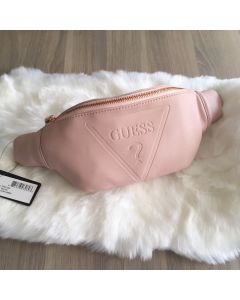Guess Factory Women's Gym Embossed Logo Waist Bag Blush color