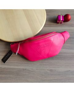Guess Factory Women's Gym Embossed Logo Waist Bag Red Color