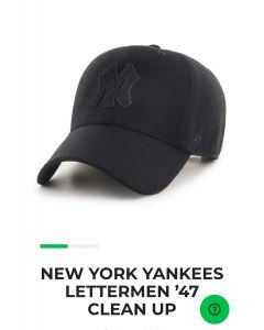 New York Yankees Lettermen' 47 Clean Up Black