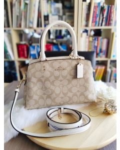 Coach Mini Lillie Carryall In Signature Canvas CHALK/WHITE