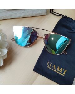 Gamt Polarized Cateye Sunglasses 58mm (Blue)