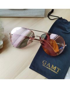 Gamt Aviator Frameless Polarized 62 mm (Pinkgold)