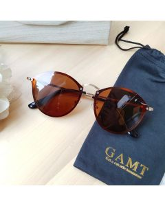 Gamt Sunglasses Polarized Rimless 50mm (Brown)