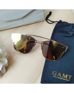 Gamt Polarized Cateye Sunglasses 58mm (Golden brown)