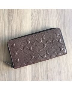 Coach F58113 Accordion Wallet In Signature Crossgrain Leather Mahogany