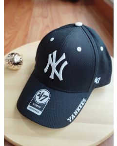 New York Yankees '47 Brand Black MVP Frost Adjustable Hat