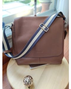COACH F71721 SULLIVAN SMALL MESSENGER IN SMOOTH LEATHER (SADDLE)