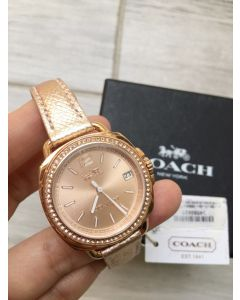 Coach Metallic Rose Gold Leather GLITZ TATUM 14502629