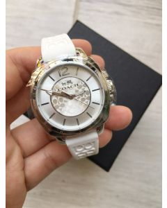 Coach 14502093 Mini Boyfriend Signature White Watch