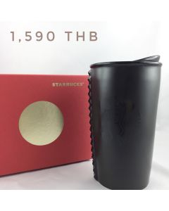 Starbucks Coffee BLACK Ceramic Travel Mug Cup