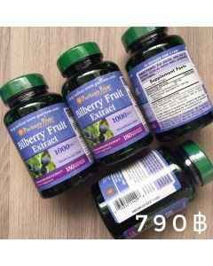 Puritan 's Pride Bilberry Fruit Extract 1000 mg.